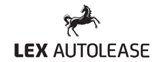 Black Lex AutoLease logo with black horse