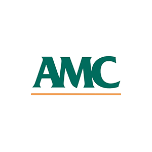 Green and orange AMC logo