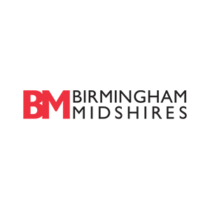 Red B and M for Birmingham Midshires logo