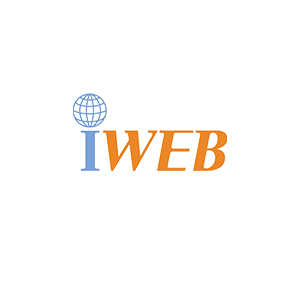 Blue and orange iWeb logo